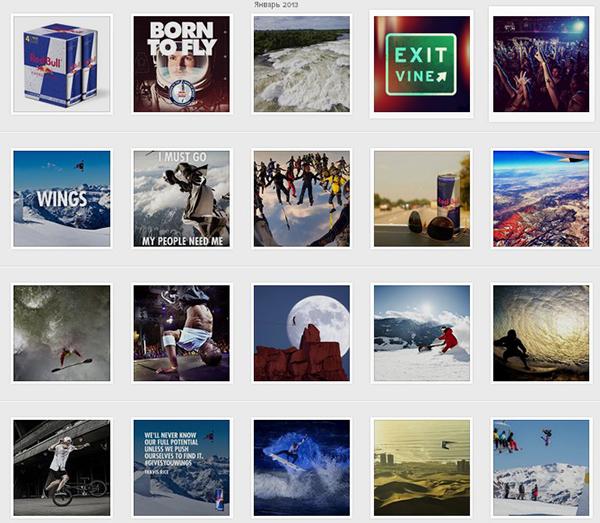 Red Bull в Instagram