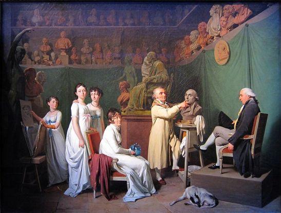 В студиото на Удон (ок. 1804)