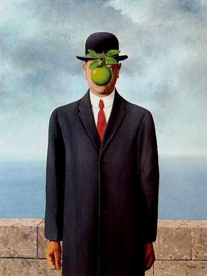 Magritte TheSonOfMan 1964