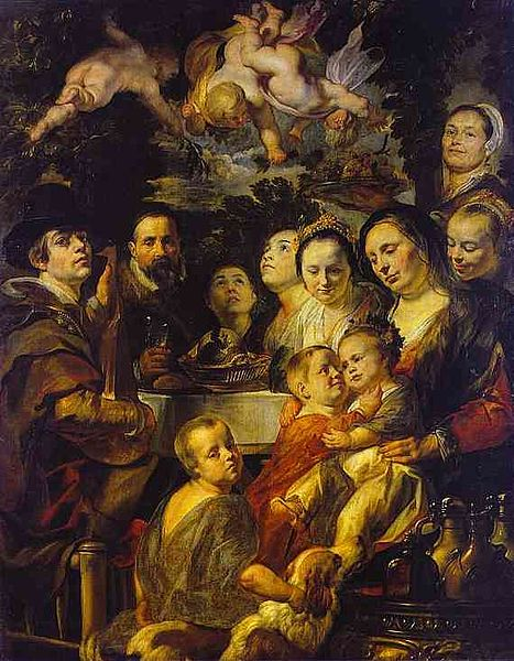 Self-Portrait with Parents, Brothers, and Sisters (c. 1615)