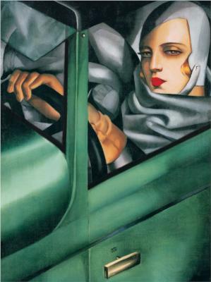 Self-Portrait in the Green Bugatti