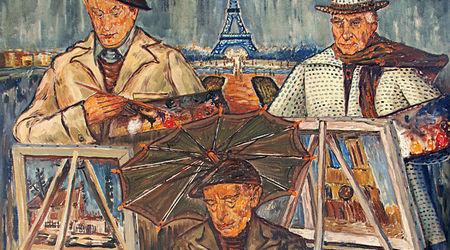 """Златю Бояджиев -""""Бараците"""", 1964, маслени бои на платно, 196 х 136 см.  [СГХГ]"""