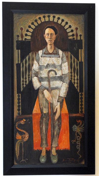 """Златю Бояджиев, """"Автопортрет на трон"""", 1967"""