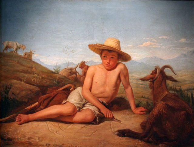 Giotto gardant les chèvres  (1850)