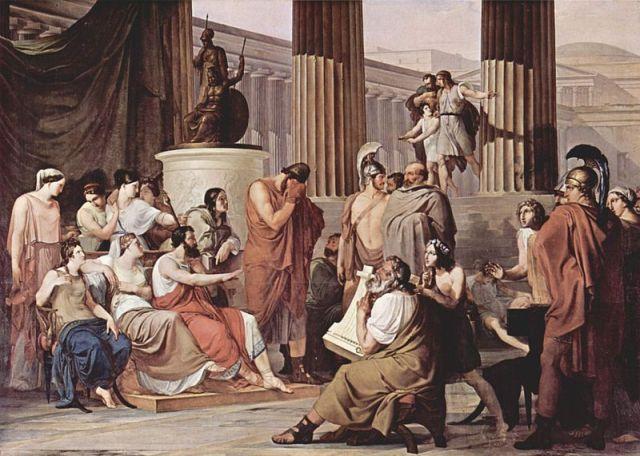 Одисей в двора на Алкиной (1814-15)