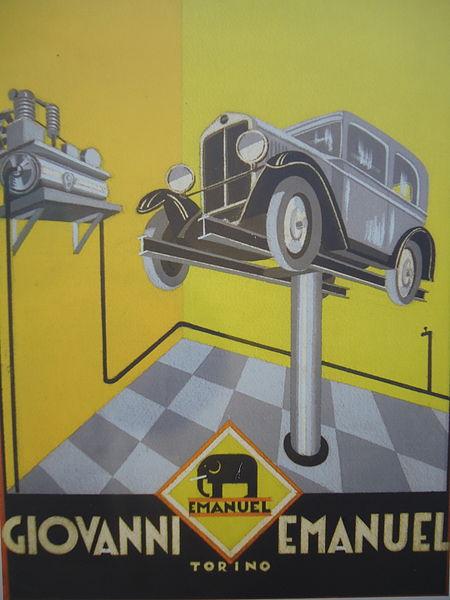 Проект за плакат на Джовани Емануел, Торино, 1929