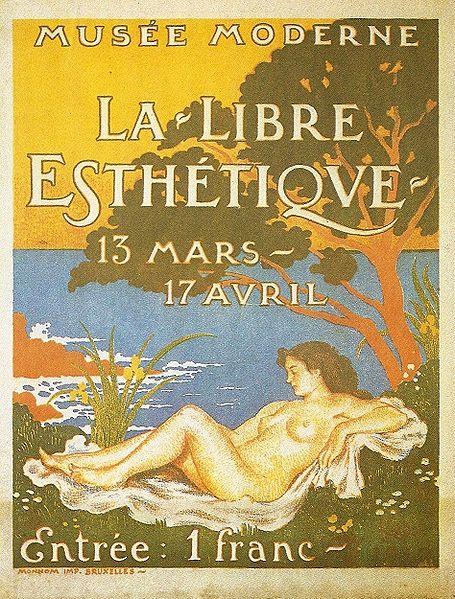 Exhibition poster for La Libre Esthétique, 1910