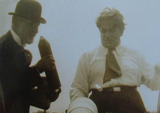 """Сати и Пикабиа в пролога на филма """"Relâche"""" (ноември 1924)"""