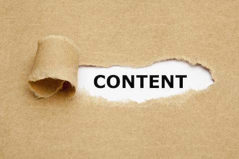 Content Torn Paper Concept