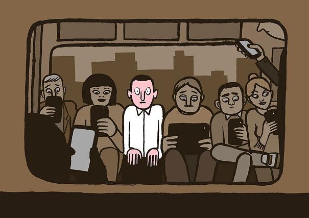 Weirdo On The Subway, Jean Jullien